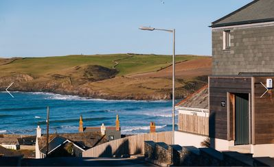 Photo for Luxury home Hawkers Cove with extensive sea views of Polzeath Beach