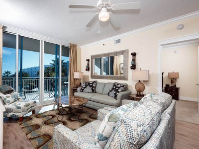 Photo for Stunning, spacious condo at Waterscape! Steps to beach! Free beach chairs! Lazy river on-site!