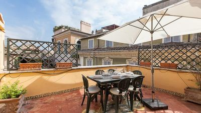 Photo for Magnificent penthouse in the heart of Baroque Rome