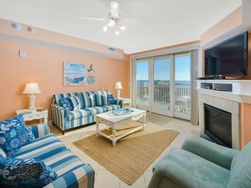 South Beach is a luxurious building overlooking the boardwalk, beach and ocean.