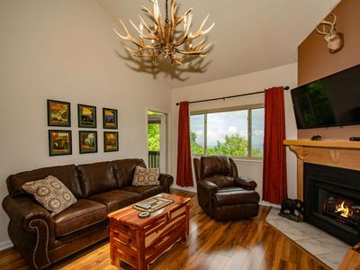 Photo for High Chalet Condo w/ Awesome Views ~ Game Room, Sauna, WiFi, Pool, Hot Tubs - 4 miles to Gatlinburg