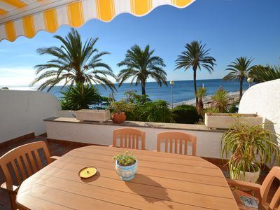 Photo for Villa w/ sea view and sw. pool - 100m sand beach & 400m Ametlla's centre & port.