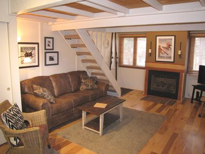 Photo for Studio with Loft BR - 200 steps to Snowflake Lift, Sleeps 4, Heated Garage
