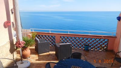 Photo for Exceptional and rare apartment with large panoramic terrace opened on the sea