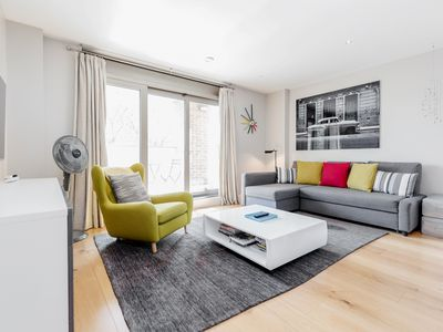 Photo for Chic, Quiet & Secure 2BR, 2BR flat by the London Eye & Waterloo