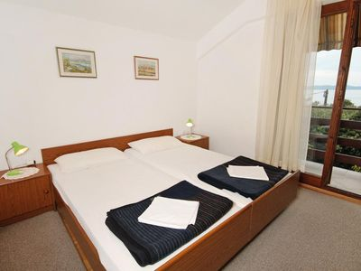 Photo for One bedroom apartment with balcony and sea view Kožino (Zadar)