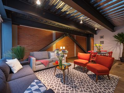 Photo for Urban, industrial chic loft perfect for couples, families