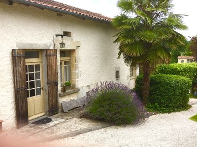 Photo for Le Tournosols, 2 bed cottage with 2 bath. Heated pool. Sleeps 6.