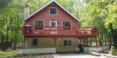 Photo for Treehouse in the woods, with Master loft. Minutes from skiing!