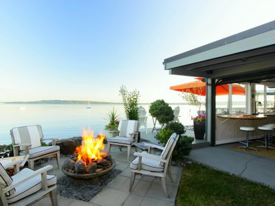 Photo for Glorious Waterfront Apartment and Cabana With Patio, Yard and Deck