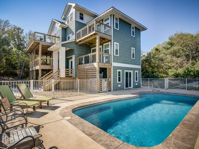 Photo for OBX Dream (House) | 1920 ft from the Beach | Private Pool