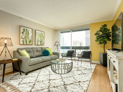 Photo for NEW LISTING! Downtown condo w/ shared pool, gym, outdoor lounge & more!