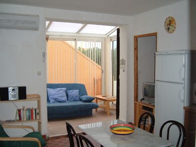 Photo for Languedoc Mediterranean Beach Side Air-Conditioned  2 Bed Apartment with patio