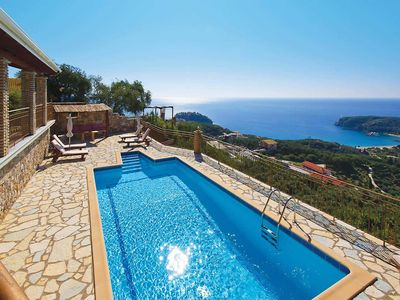 Photo for Hillside  3 bedroom villa w/ pool & terrace overlooking Parga. Wi-Fi, Air-conditioning, pool towels, haridryers and complimentary breakfasts included.