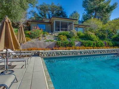 House sleeps 8.  Pool, spa, excellent views of Upper Ojai Valley.
