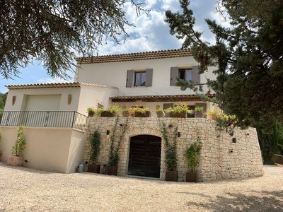 Photo for Provencal Bastide with views and private pool in Lourmarin