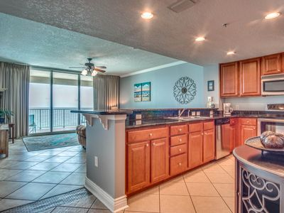Photo for Spacious 1-BR/2-BA Gulf front condominium unit with updated coastal decor