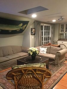 Living space with pull out sofa sleeper