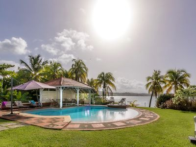 Photo for Luxury villa, cottage, pool, garden, pontoon, sea access