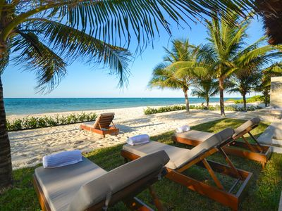 Photo for Exquisite private and luxurious true beach Villa with infinity pool