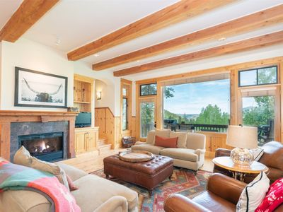Photo for Exposed Beams, Expansive Deck & Breathtaking Views Fill Double Eagle with a Relaxing Atmosphere