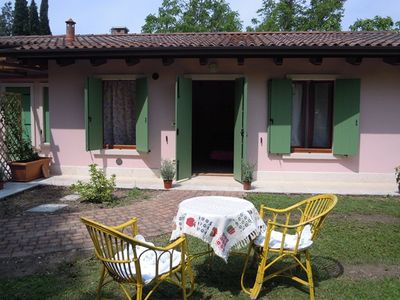 Photo for Cottage inserted within a park 100 meters from Lake Garda