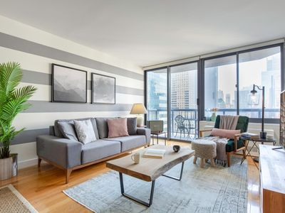 Photo for Airy Times Sq 1BR w/ Indoor pool, Gym + Doorman by Blueground