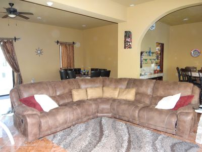 Great Room with reclining sectional  sofa