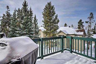 Admire views from the deck at this 4-bed vacation rental in Breckenridge!