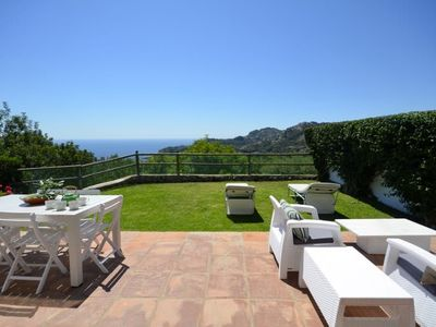 Photo for Fantastic apartment with big private garden and sea views, situated in Aiguablava. It has