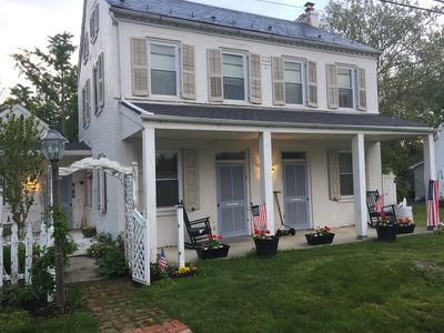 Photo for Historic farmhouse waterfall view, dog-friendly near Amish + Sight&Sound + shops