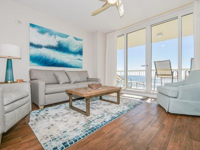 Photo for Soft, crisp, coastal beachfront condo w/private balcony!