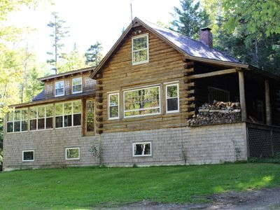 Photo for Large classic cottage with sandy beach on Mooselookmeguntic Lake