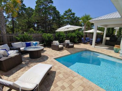 Photo for NEW Luxury Home,  Indoor/Outdoor Living  + Beach Set-up & Heated Pool!!