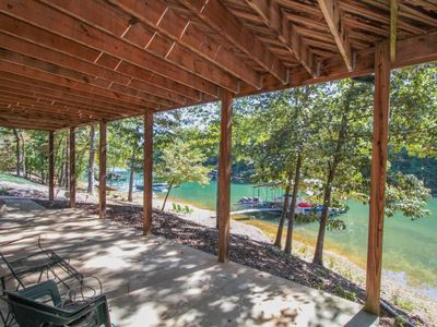 Photo for Beautiful Log Cabin on Lake Keowee with Dock - Close to Clemson!