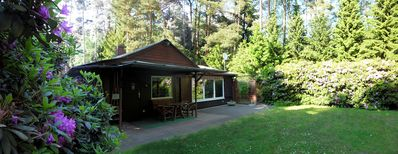 Photo for 65 sqm wooden cottage for 6 persons on 1000 sqm forest property, dogs welcome!