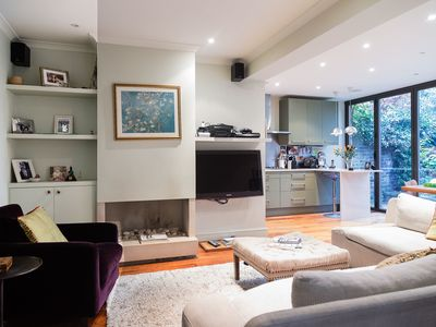 Photo for Charming and modern 3 bedroom apartment in West Hampstead (Veeve)