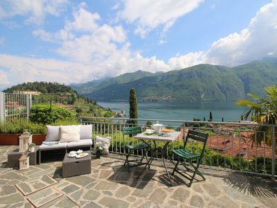 Photo for Lake cottage Bellagio, a beautiful dehors with beautiful view on the lake
