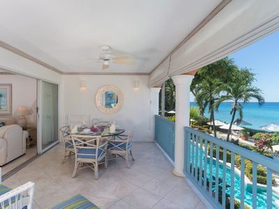 Photo for 2 bed BEACHFRONT Apartment in Holetown, St. James