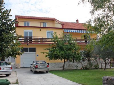 Photo for One bedroom apartment with terrace and sea view Bibinje (Zadar) (A-5786-b)