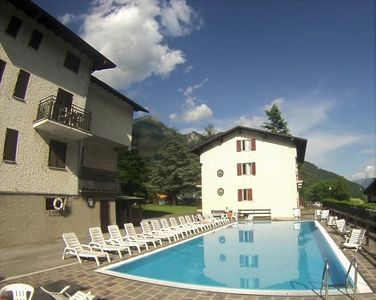 Photo for Apartment with pool, garden, wifi, parking, grill