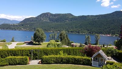 Photo for Stunning, unobstructed lake and mountain view home.