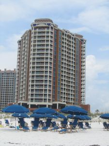 The condo is on the 9th floor of Tower 1 facing the Gulf.