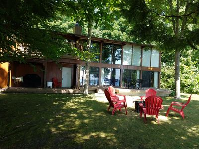 Photo for Private Suttons Bay Waterfront Home with Wi-Fi, Central Air, Near Traverse City