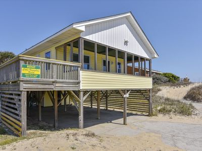 Photo for Oceanfront cottage in South Nags Head. Located in the private Pelican Park subdivision. Beach access is just steps from your front door!