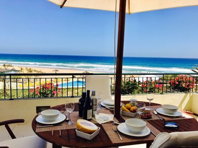 Photo for Stunning view in Porto Santo - T2 with beach, pool and terrace