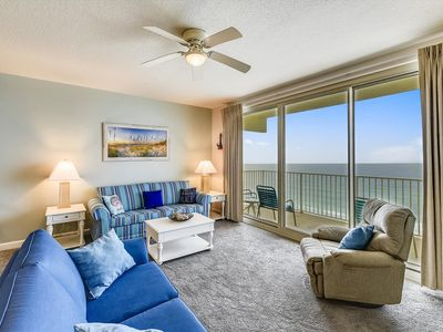 Photo for Endless Gulf Front Views, 1 Bedroom, Sleeps 6. Free Daily Activities! 12th Flr Parking Space