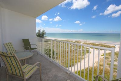 View from private your private balcony overlooking the beach and Gulf of Mexico