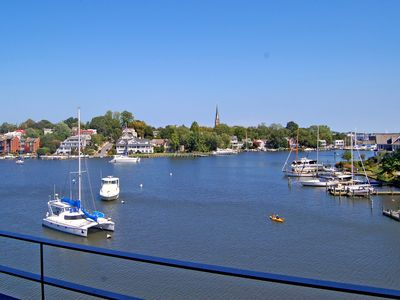 Photo for This one bedroom = loft  Eastport waterfront condo has a deck with beautiful views of Spa Creek.