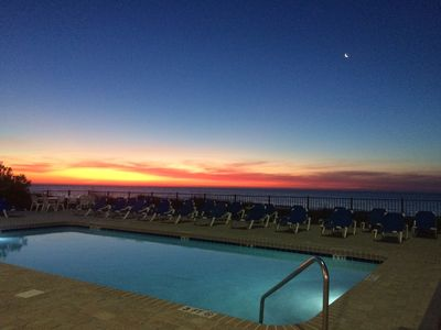 Beachside pool at sunset!